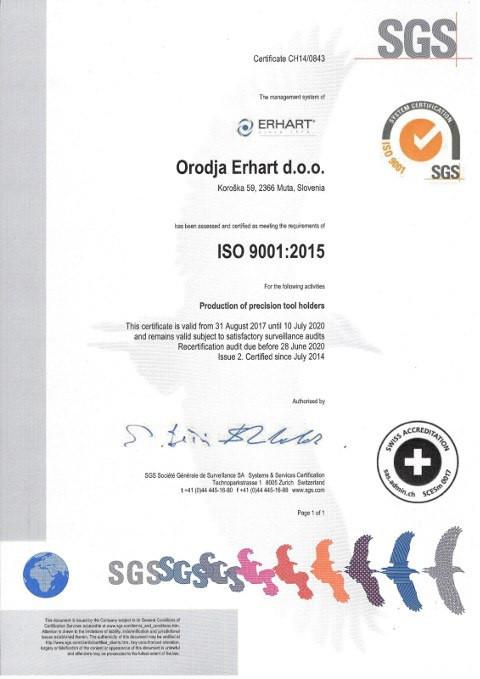 ISO-9001-2015 Orodja Erhart d.o.o.